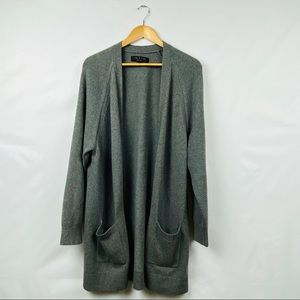 Rag & Bone Gray Long Cardigan Pockets Size Medium